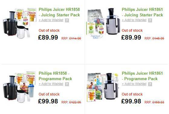 Juicers Sold Out in UK