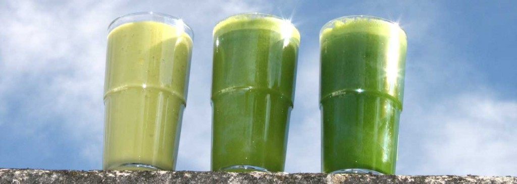 three green juices