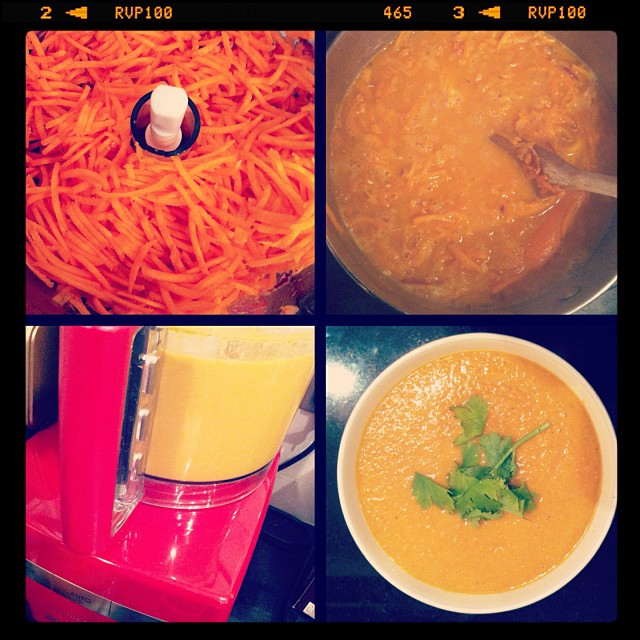 Indonesian Carrot and Chickpea Soup