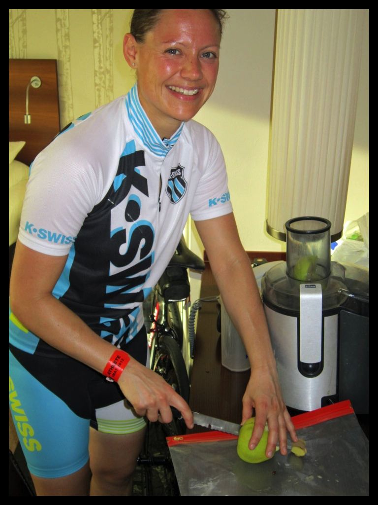 Ironman Andrea Prepares Fresh Juices