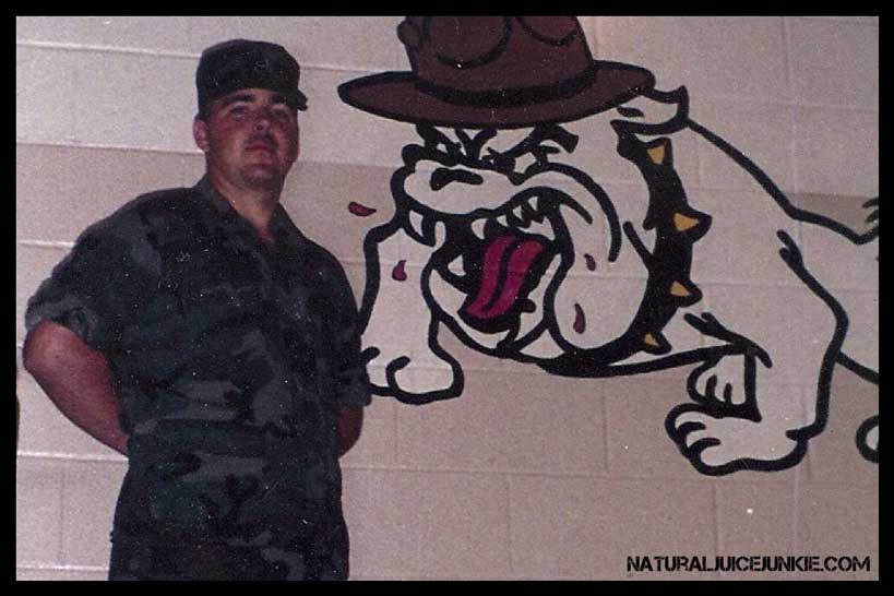 Joe Arnold in the Military, Before His Weight Gain