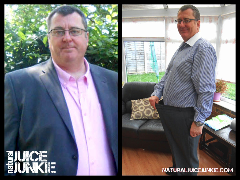 Mark Loses 42 pounds juicing and stops gout pain