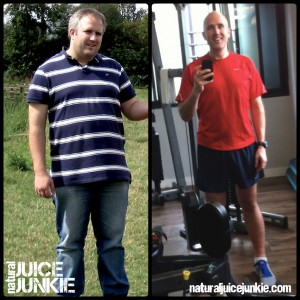 Neil Martin, Natural Juice Junkie loses over 70 pounds juicing
