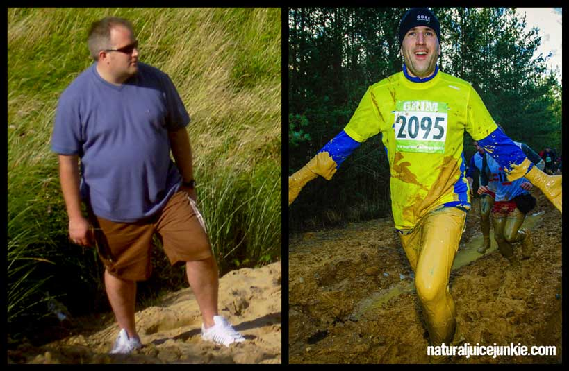 Neil Martin, Natural Juice Junkie - Weight Loss before and after