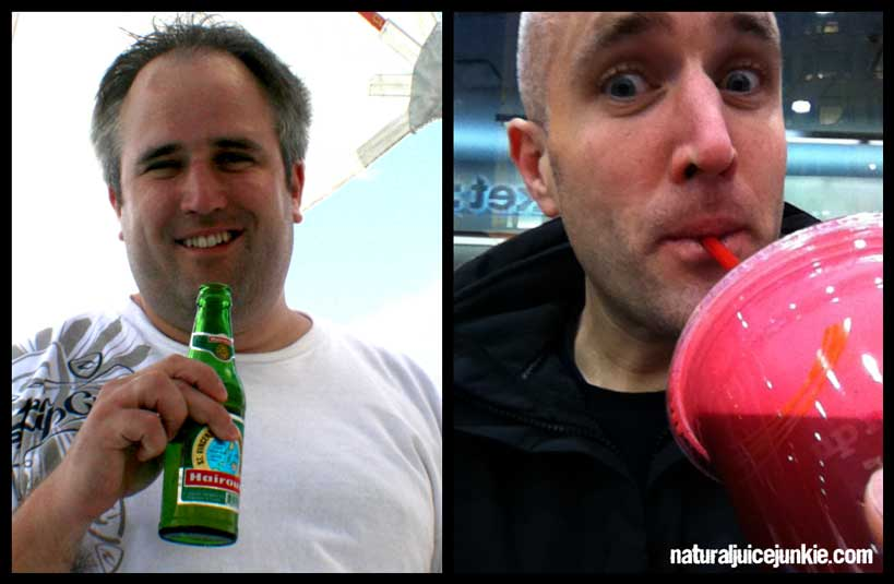 Neil Martin, Natural Juice Junkie - Weight Loss Before and After Juicing