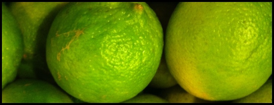 juicing unwaxed lime and lemon for extra zing