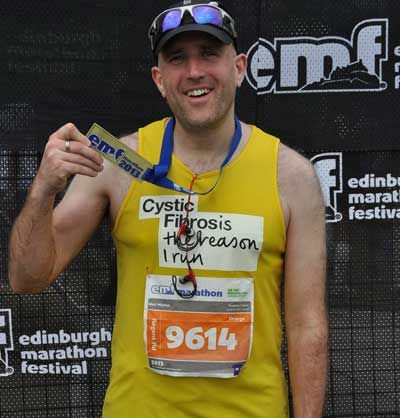 Completing Edinburgh Marathon 2013
