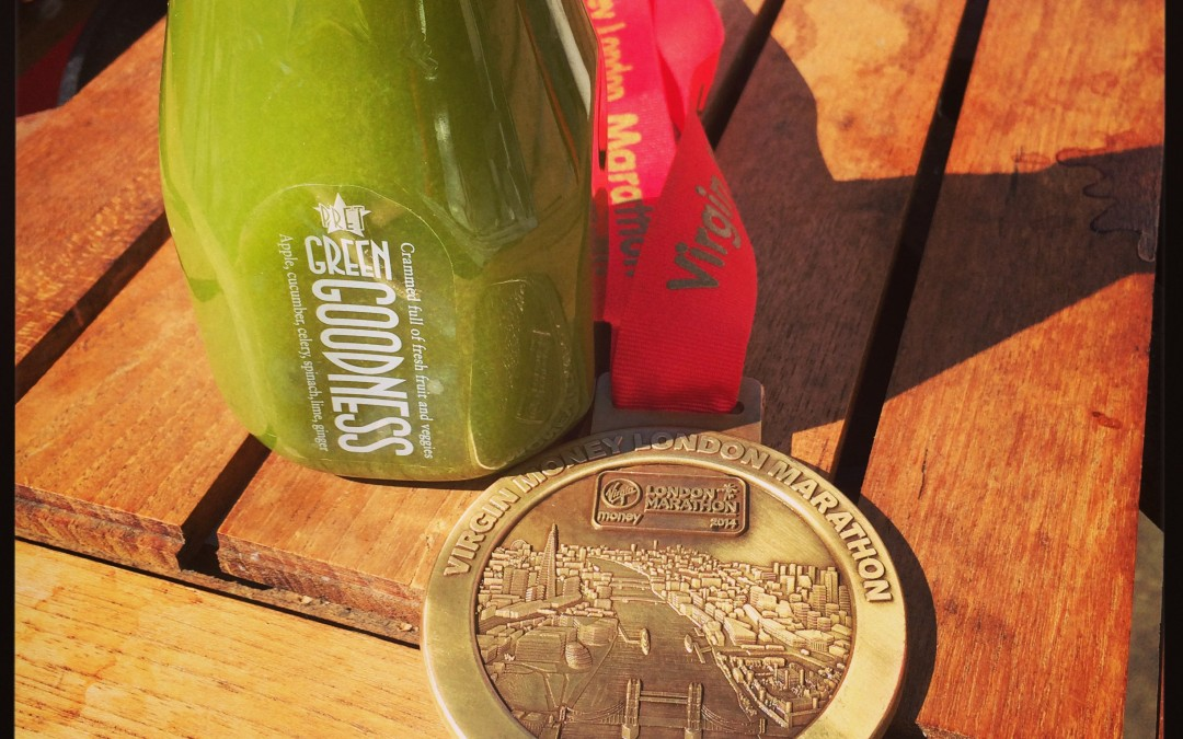 Running on Juice (and in Pain) – London Marathon 2014
