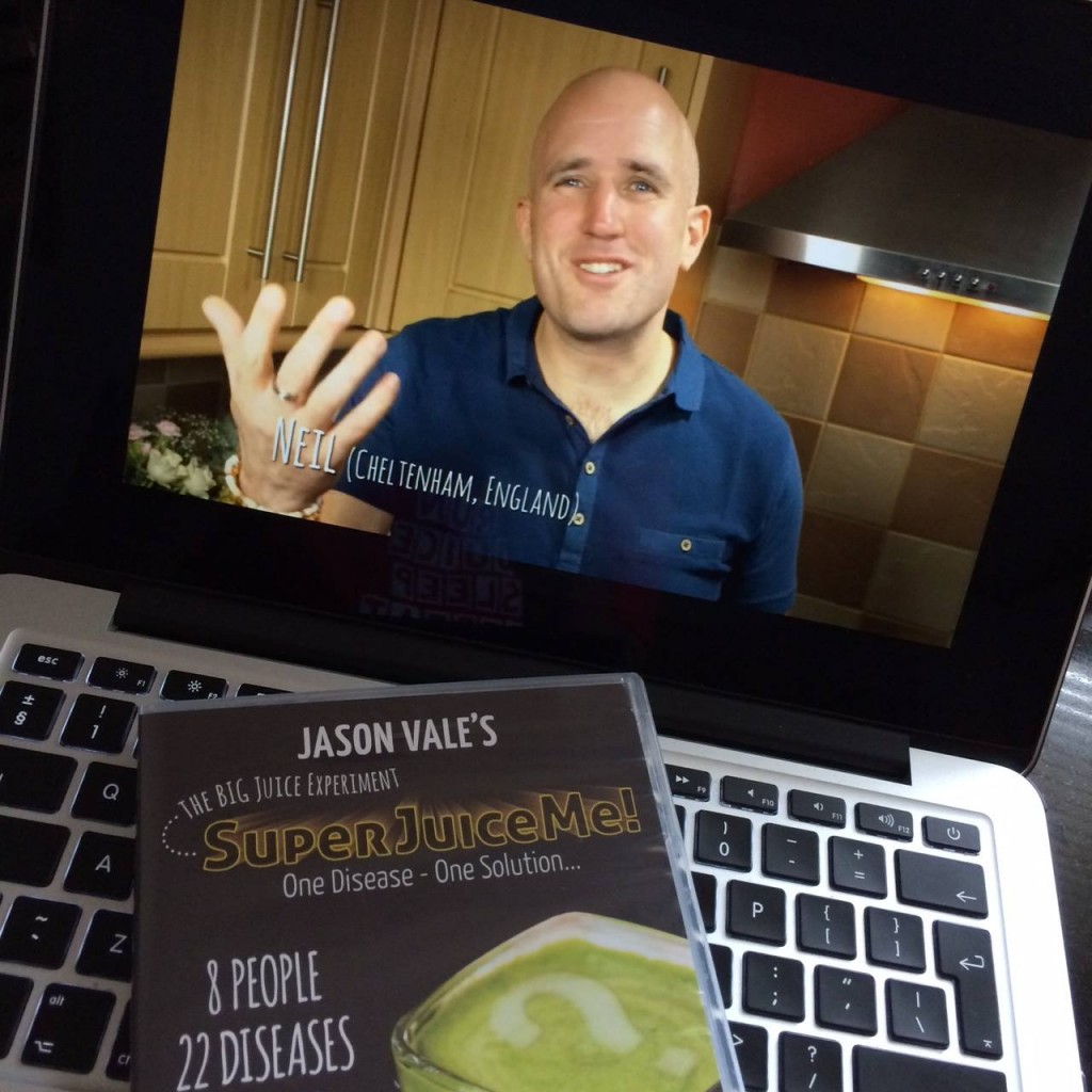 Neil Martin, Natural Juice Junkie in the juicing documentary Super Juice Me!