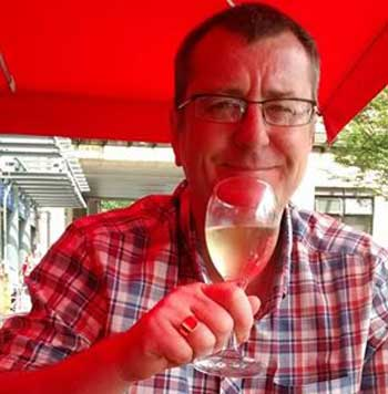 Juicing Journal: Mark enjoys a glass of wine