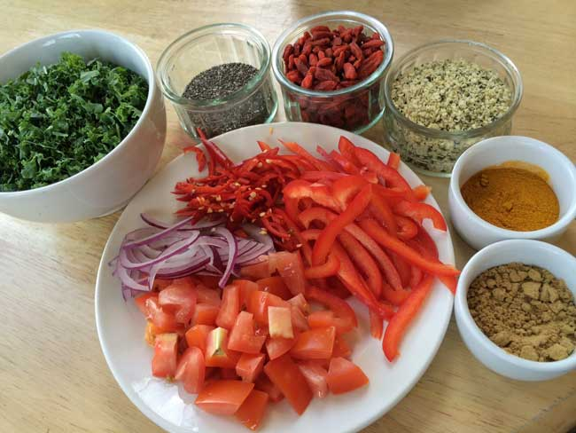 Raw Vegan Recipe: Red Thai Curry Ingredients
