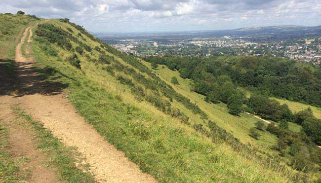 100 Mile Run - trails through the Cotswold hills