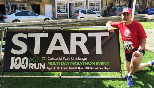 Running on Juice: 100 Mile Run start line in Chipping Campden