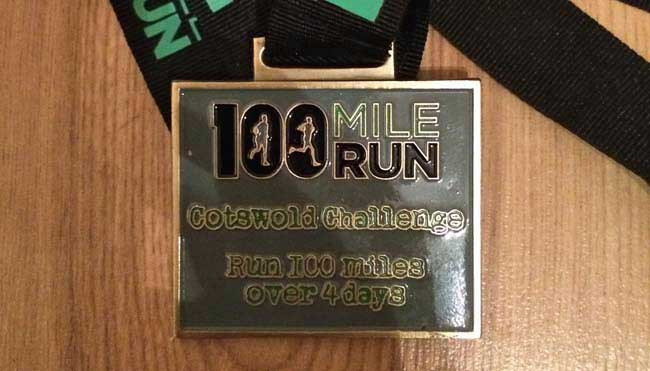100 Mile Run Medal 2014