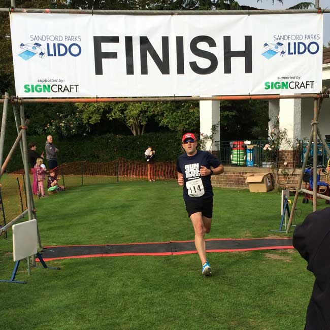 Natural Juice Junkie - Cheltenham Triathlon Run Finish