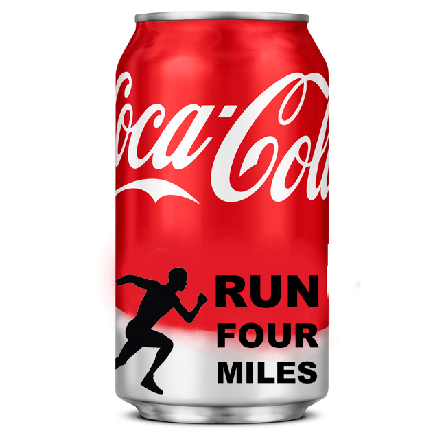 500ml Coke needs 4 mile run to burn calories