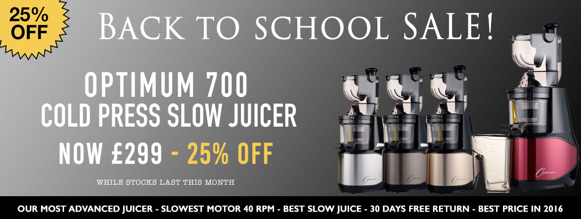 Optimum 700 Juicer - Back to School Sale