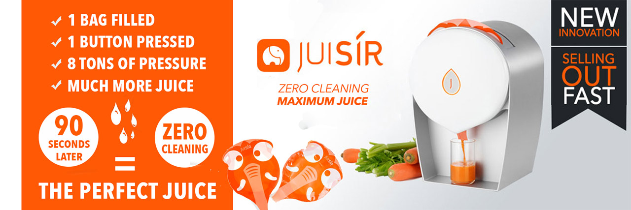 JUISIR - the juicer that needs ZERO cleaning