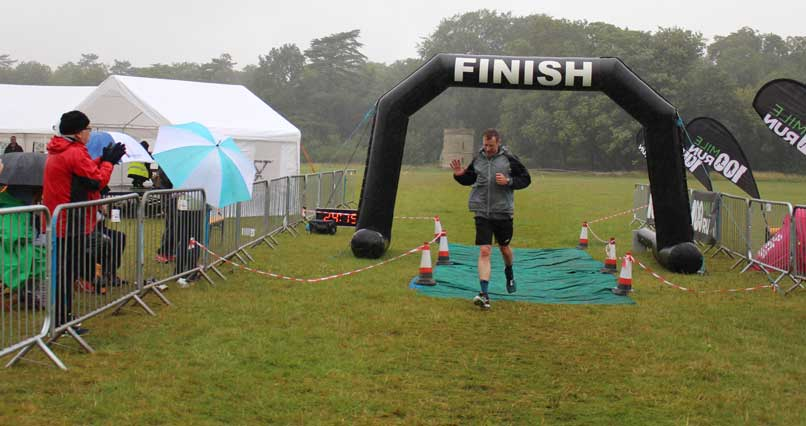 Pete finishes our final lap in the rain