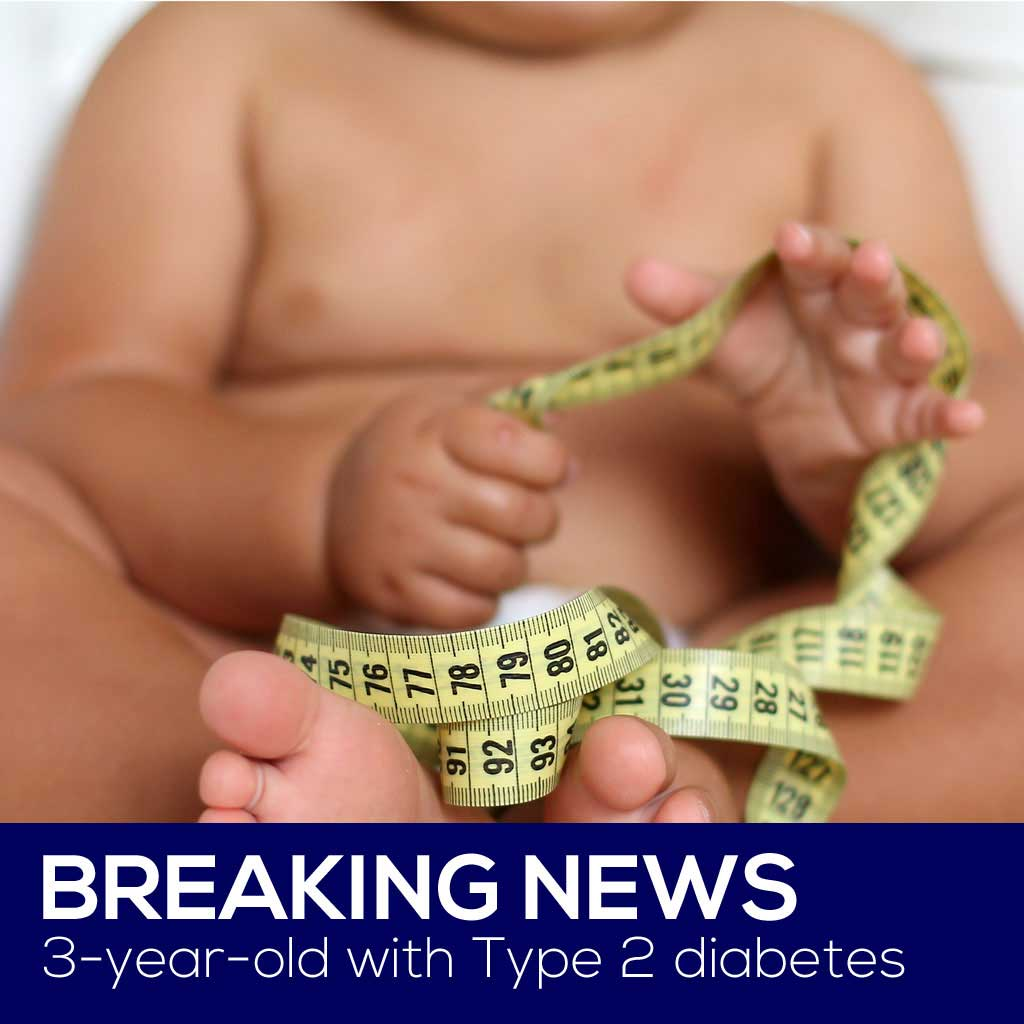 Three-year-old Diagnosed with Type 2 Diabetes