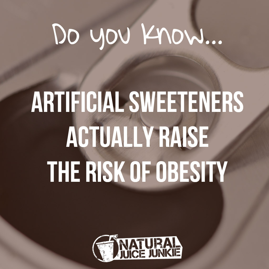 artificial sweeteners actually RAISE the risk of obesity