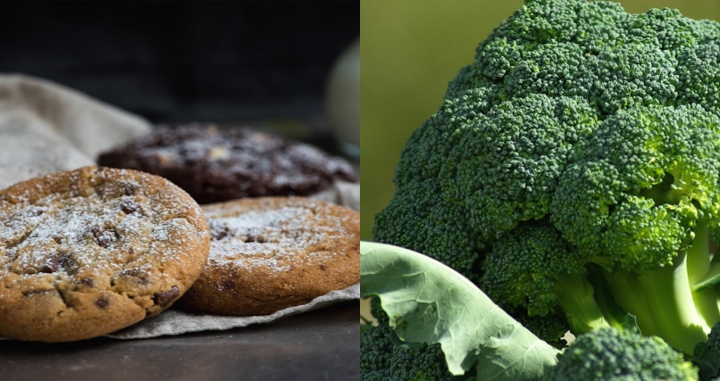 Which is healthier 250 calories of broccoli or 250 calories of cookies?