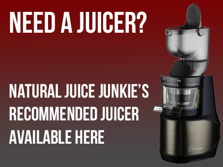 Need a juicer? This is Natural Juice Junkie's weapon of choice